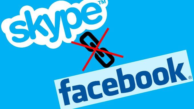 Отсоединить Skype от Facebook